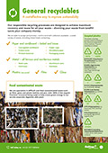 Download the General recyclables info sheet